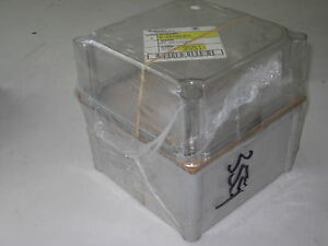 Hoffman A 887ab3cc Abs Plastic Electrical Enclosure W Clear Cover new