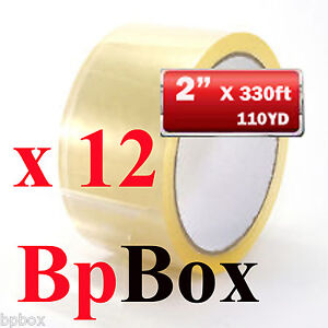 12 Clear Tape 2 X 110 Yards Rolls Carton Sealing packaging Tape