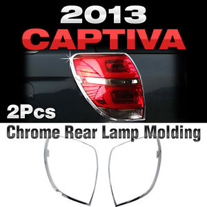 Chrome Rear Lamp Garnish Molding Trim Set For Chevrolet 2013 2014 2015 Captiva