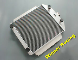 56mm Aluminum Radiator Fit Ford Car Streetrod Flathead 8 Cylinder M T 1949 1953