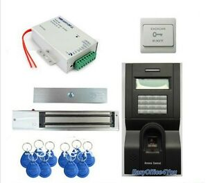 Fingerprint Rfid Access Control System Kit Set door Lock rfid power exit Button
