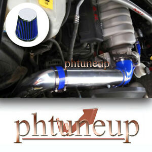 Blue 2006 2010 Jeep Commander Grand Cherokee 5 7 5 7l Cold Air Intake Kit