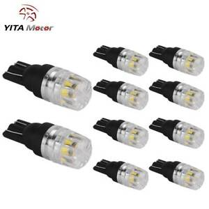 10x Super White T10 192 921 Led Backup Reserve Side Marker Parking Light Bulbs
