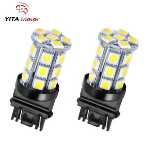 2x White 3157 5050 24smd Backup Reverse Led Light Bulbs3156 3057 3456 3757 4114