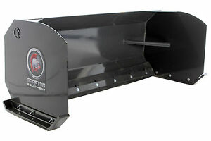 Skid Steer Snow Pusher Attachment 72 Wide Adjustable Reversible Rubber Edge