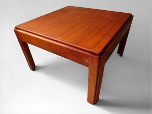 1960 J Andersen Silkeborg Danish Modern Fine Teak Wood Coffee Table Eames Era