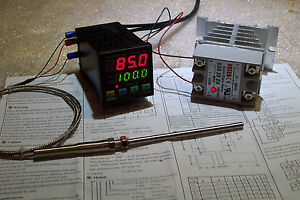 Digital Pid Temp Controller F C 25amp Ssr With heatsink And Pt 100 Probe
