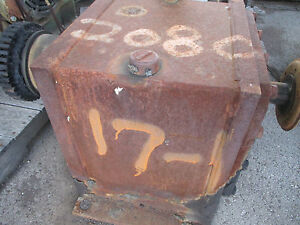 Falk Gear Reducer 2080fc2 17 1 Shafts Turn Smooth Needs Paint Only