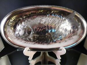 James W Tufts Boston Quadruple Plate Silver Embossed Fish Serving Tray C 1875