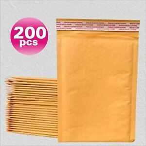 Yens 200 2 Kraft Bubble Padded Envelopes Mailers 8 5 X 12