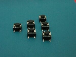Quality Smd Tactile Tact Push Button Micro Switch Momentary P4 6 6 5mm 100pcs