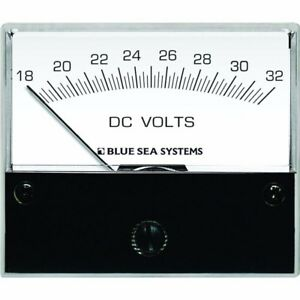 New Blue Sea 8240 Dc Analog Voltmeter 2 3 4 quot Face 44 18 32 Volts Dc