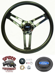 1963 1964 Fairlane Galaxie Steering Wheel Blue Oval 14 1 2 Shallow Depth