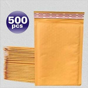 Yens 500 0 Kraft Bubble Padded Envelopes Mailers 6 X 10 Fit inner 6x9