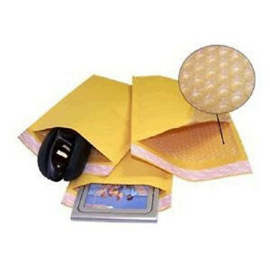 Yens 500 0 Kraft Bubble Padded Envelopes Mailers 6 5 X 10 Fit Dvd Cd Case