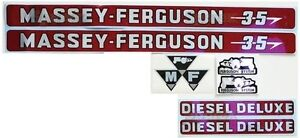 Massey ferguson Mf 35 Mf35 Tractor Basic Decal Set Incl Diesel Deluxe