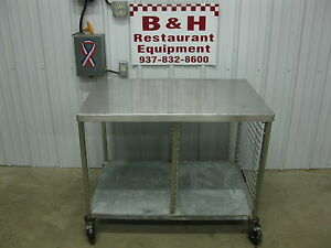 40 X 26 1 2 Stainless Steel Work Prep Bakery Table W Chrome Sheet Pan Rack
