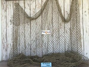 Authentic Used Fish Netting 10 X 10 Fishermans Net Old Fisherman S Sea