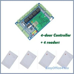 4 Doors Access Control Board Access Control Panel 4 Rfid Readers free Software