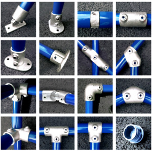 Pipe Clamp System 42mm Fittings Connectors 42 4mm Tube Galvanised Allen Key