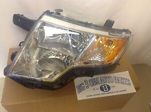 2007 2010 Ford Edge Left Hand Driver Side Front Headlamp Oem 7t4z 13008 B