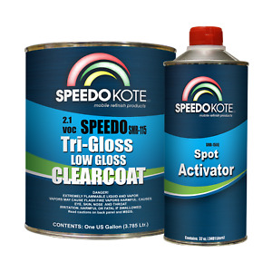 Low Gloss 2 1 Voc Urethane Clear Coat Smr 115 Gallon Kit Clearcoat W Med Act