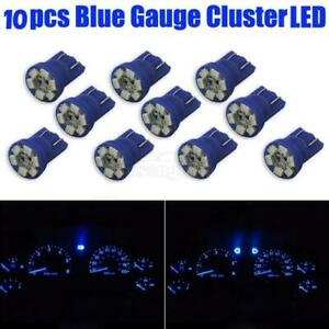 10x Blue T10 Wedge 6 Smd Led Dashboard Panel Instrument Cluster Light Bulb