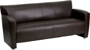 Majesty Series Brown Leathersoft Sofa Reception Guest Lounge Furniture