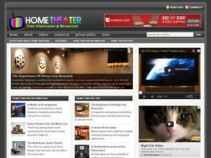 Home Theater Av Components Turnkey Wordpress Blog Website For Sale