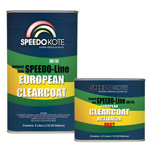 European Clear Coat 2k Urethane Smr 1100 7 5 Liter Euro Clearcoat W fast Act