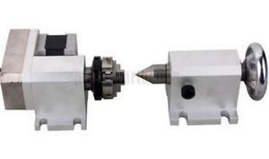 Cnc Engraving Machine Router Rotational Rotary Axis F A axis 4th axis tailstock