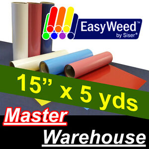 Heat Transfer Vinyl Material Heat Press Siser Easyweed 15 X5 Yds Over 31 Colors