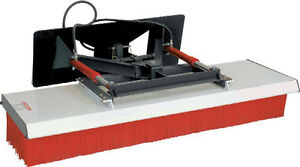 Skid Steer Push Broom 72 Wide Hydraulic Angle With Mount Hoses