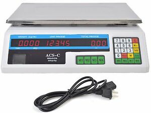 Digital Deli Meat Food Computing Retail Price Scale 60lb Fruit Produce Counting
