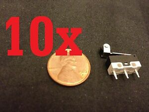 10 Pieces Micro Limit Switch Lever Kw10 z4p N c N o Arm Ac Dc Roller B12