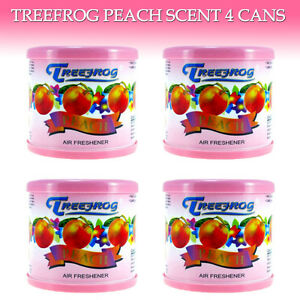 4 Cans Treefrog Car Air Freshener Peach Scent Air Freshener Tree Frog Peach