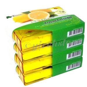 4 Pack Treefrog Fresh Box Mini Lemon Squash Scent Air Freshener New Jdm Products