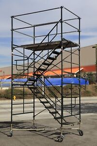 Scaffold Stairway Case Rolling Tower 5 X 7 X 11 7 To 12 7 Deck High Cbm1290