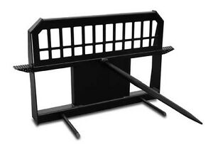 Skid Steer Bale Spear High Back With Single Spear And Universal Mounting Plate