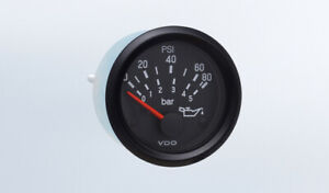 Vdo Gauge Oil Pressure 80 Psi Genuine Cockpit 350 934 Bracket 2 52mm W harness