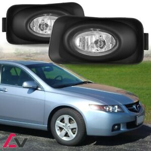 2004 2005 Acura Tsx Jdm Clear Bumper Fog Lights Full Kit Front Driving Lamps Set