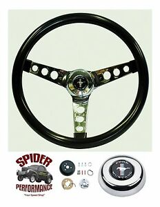 1965 1969 Mustang Steering Wheel Pony 13 1 2 Glossy Grip