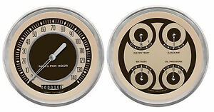 Classic Instruments Nostalgia Vt Series 2 Gauge Set Nt52slc Speedo Quad 5 Set