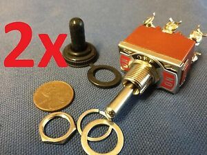 2x Waterproof Dpdt Momentary off momentary On off on Toggle Switches 15a 1 2