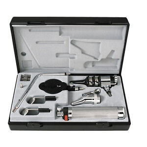 Riester Pocket Otoscope Ophthalmoscope Set 2 7v Vacuum Bulb In Case 2050