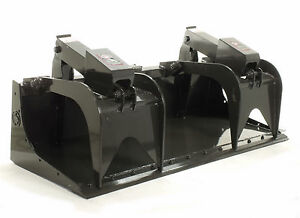 Skid Steer Grapple Bucket 84 Wide With Bolt On Cutting Edge Pro Series