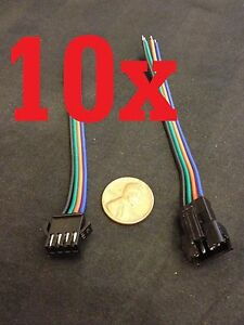 10 Set Jst 4 Pin Male Female Rgb Connector Wire Cable 3528 5050 Smd Led Strip A1
