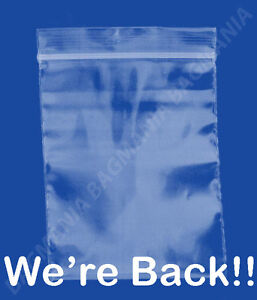 100 2mil 5 X 7 Zip Top Recloseable Plastic Small Bags Jewelry Bags fast Ship
