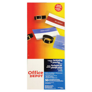 Office Depot Id Card luggage Tag Hot Laminating Pouches Slotted With Strap 50pcs