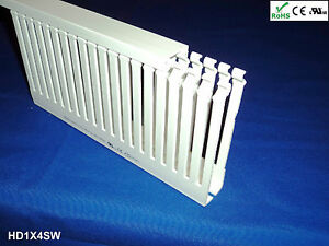 18 New 1 x4 x2m Narrow Finger Open Slot Wiring Cable Raceway Duct Cover White
